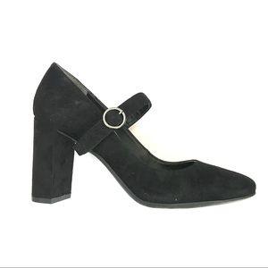 Franco Sarto Suede Leather Mary Jane Block Heels